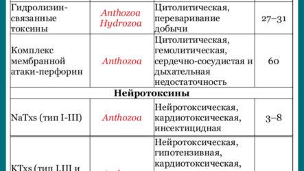 Древние системы ядов: обзор токсинов животных типа Cnidaria